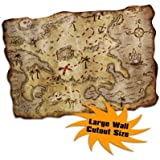 Beistle Jumbo Treasure Map Cutout, 241/2 by 341/2-Inch