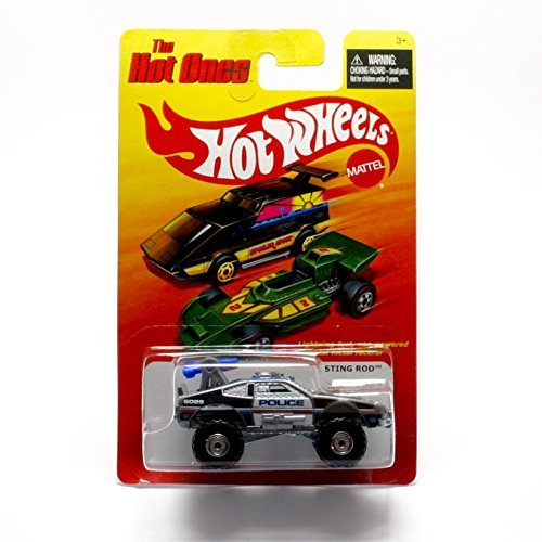 STING ROD (POLICE) * The Hot Ones * 2011 Release of the 80's Classic Series - 1:64 Scale Throw Back HOT WHEELS Die-Cast Vehicle