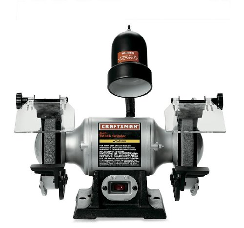 Best Prices! Craftsman 9-21124 1/6 Horsepower 6-Inch Bench Grinder with Lamp
