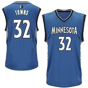 Mens Karl-Anthony Towns #32 Minnesota Timberwolves Blue Jersey