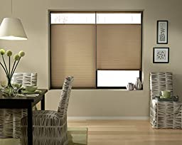Top Down Bottom Up Shades, Cordless Cellular Window Blinds, Antique Linen (36Wx60L)