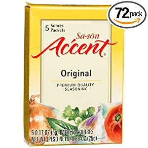 Sa son Accent Seasoning, Original Flavor, 5 Count Packets ...