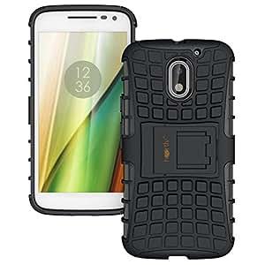 Heartly Rugged Shock Proof Tough Armor Back Case For Motorola Moto E3 Power / Moto E3 / Moto E 3Rd Gen - Rugged Black