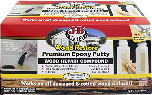 Weld 40007 Wood Restore Premium Epoxy Putty Kit - 64 oz