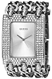 GUESS Women's U12640L1 Rocker Glitz Multi-Chain Silver-Tone Bracelet Watch