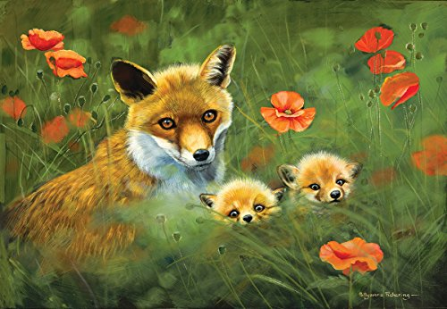 Fox Cubs 300 Piece Jigsaw Puzzle by Sunsout Inc.