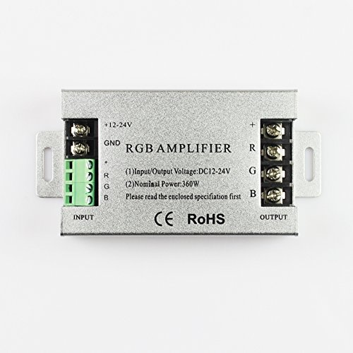 360W Led Rgb Amplifier Dc12-24V Signal Amplifier For Rgb Led Strip Light 10A/Channel Aluminum Version