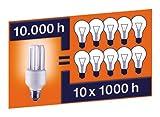 Osram 63144B1 Dulux Superstar Classic A, E27 Energiesparlampe in Glühlampenform 15W/827, warmweiß