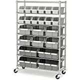 Seville Classics Commercial 7-Shelf 22-Bin Rack Storage System, NSF Certified