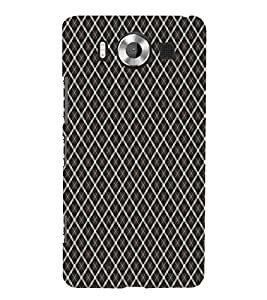 Black Color Net Pattern 3D Hard Polycarbonate Designer Back Case Cover for Nokia Lumia 950 :: Microsoft Lumia 950