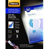 Fellowes Self-Adhesive Sheets, Letter Size, 3 mil, 10 Pack (5221501) ~ Fellowes