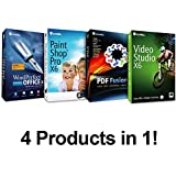 Complete PC Office Suite 4 - Includes : Corel WordPerfect Office X6, Paintshop Pro X6, Video Studio X6, & PDF Fusion ($499 Retail Value)