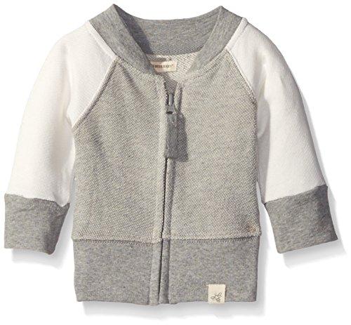 Burt's Bees Baby Baby Organic Loose Pique Baseball Jacket, Heather Grey, 6-9