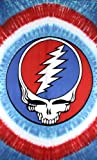 Sunshine Joy Grateful Dead Patriotic Steal Your Face Tie-Dye Tapestry Tablecloth Wall Art Beach Sheet Huge 60x90 Inches