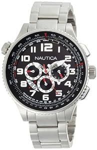 Nautica Men's N29523G OCN 46 Black Dial Watch