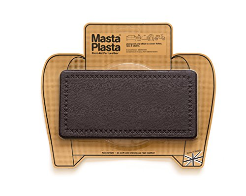 MastaPlasta Leather Repair Patch Firstaid for Sofas Car Seats Handbags Jackets etc Dark Brown Color Plain 8 inch by 4 inch Designs Vary (Faux Leather Furniture Repair Kit compare prices)