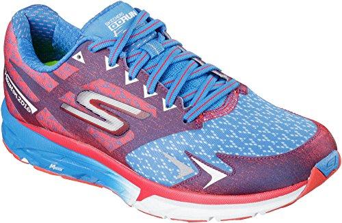 Skechers Women's Go Run Forza Houston 2016 Running Shoes Red/Blue 7 B(M) US