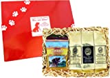 Gift for Every Coffee Lover Who Also Loves Their Dog! Kona Hawaiian Coffee Sampler Gift with All Natural Treats for Man's Best Friend, Best Gift for Christmas and All Occasions, Brews 36 Cups