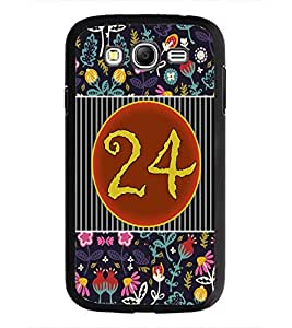 PrintDhaba Numerology Number 24 D-3113 Back Case Cover for SAMSUNG GALAXY GRAND I9082 (Multi-Coloured)