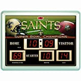 NFL New Orleans Saints 14x19 Inch ScoreBoard-Clock-Thermometer