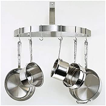 Cuisinart CRHC-22B Chefs Classic Half-Circle Wall-Mount Pot Rack, Brushed Stainless