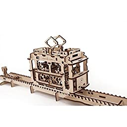 Tram Mechanical 3d Puzzle by UGEARS