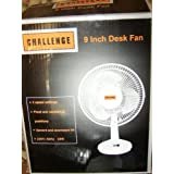 Challenge 9inch desk fan black