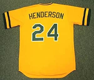 RICKEY HENDERSON Oakland Athletics Majestic Cooperstown Throwback Baseball Jersey, 2XL