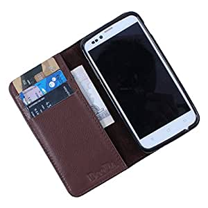 Dooda Genuine Leather Wallet Flip Case For Sony Xperia Z1 Compact (BROWN)