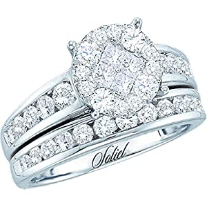 1/2 Carat DIAMOND SOLEIL BRIDAL SET