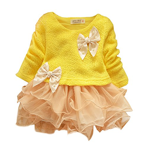 Toddlers Baby Girls Princess Lace Party Dresses Kids Flower Dress Clothes (Xl) back-114528