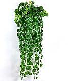 【SCGEHA】フェイクグリーン インテリア イミテーション 人工 観葉植物 壁掛け 緑 癒し 3種類 (Cタイプ/1本)