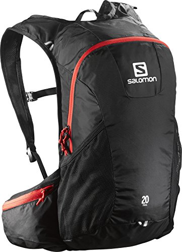 Salomon, Zaino Unisex per il running su strada e per l'escursionismo, 20 litri, TRAIL 20, Nero/Rosso, L37998100