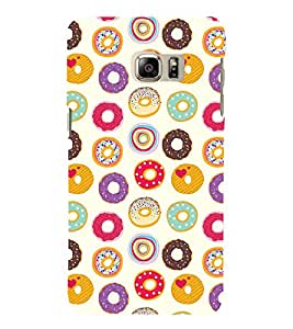 Circle Pattern 3D Hard Polycarbonate Designer Back Case Cover for Samsung Galaxy Note 7 : Samsung Galaxy Note 7 N930G : Samsung Galaxy Note 7 Duos