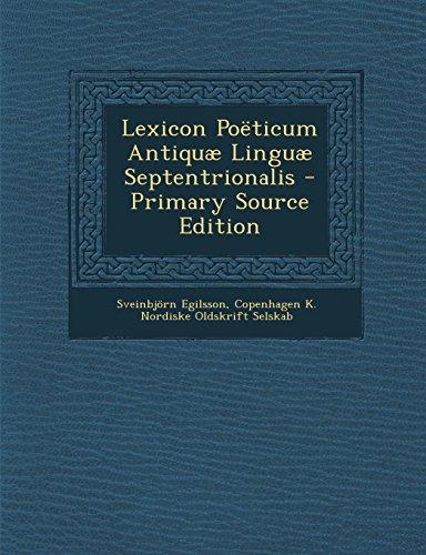 Lexicon Poëticum Antiquæ Linguæ Septentrionalis