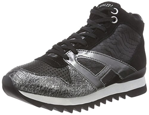 ApepazzaDANIELA MATERIALMIX - Sneaker donna , Nero (Schwarz (NERO/PIOMBO)), 39