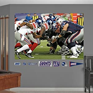NFL New York Giants Patriots Line of Scrimmage Mural Wall Graphics by Fathead
