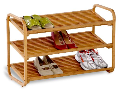 Honey-Can-Do Bamboo 3-Tier Shoe Shelf