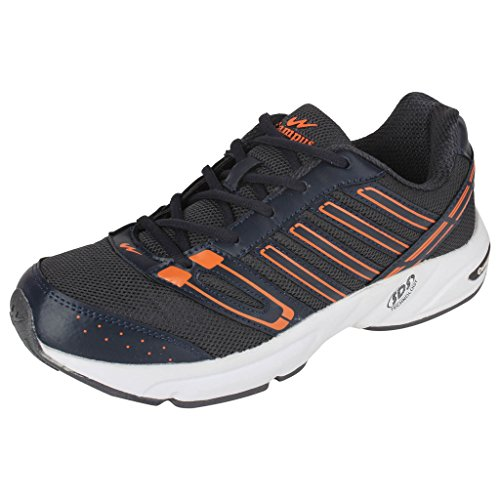 Action Campus Brass Series Dark Grey & Orange Color Casual Shoes For Men ( Size :- 7UK)  available at amazon for Rs.974