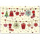 Folk Art Garland Small Boxed Holiday Cards (Christmas Cards, Holiday Cards, Greeting Cards)