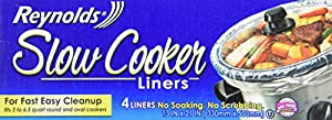 Reynolds Slow Cooker Liners, 4-Count (Pack of 12)