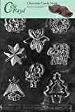 Cybrtrayd C020 Assorted with Star Life of the Party Chocolate Candy Mold with Exclusive Cybrtrayd Copyrighted Chocolate Molding Instructions