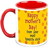HomeSoGood Everyday Is Mother's Day White Ceramic Coffee Mug - 325 Ml