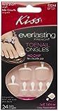 Kiss Everlasting French Toenail Kit Real Short 24 Nail