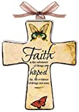 Manual Woodworkers and Weavers Divine Inspirations Ceramic Cross, 5.5-Inch, Faith, Set of 6