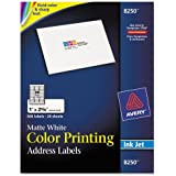 Avery - Inkjet Labels for Color Printing, 1 x 2-5/8, Matte White, 600/Pack 8250 (DMi PK