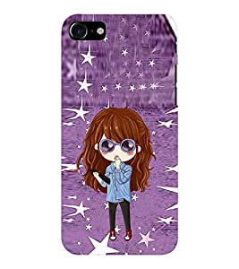 EPICCASE stylish lady Mobile Back Case Cover For Apple iPhone 7 (Designer Case)