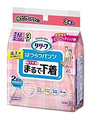 【お試しパック】リリーフ はつらつパンツ まるで下着 ピンク柄 Mサイズ 3枚入り