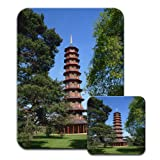 Pagoda In Kew Gardens London Premium Mousematt & Coaster Set