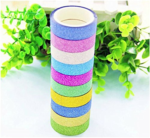 Darius Decorative Flash Rainbow Sticky Paper Masking Adhesive Tape Scrapbooking DIY Masking Adhesive Tape -Flash Rainbow Flash Powder Handmade Decorative Stickers & Glitter Washi Tape (From Gecko Feet To Adhesive Tape compare prices)